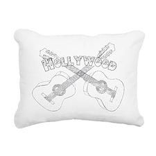 Hollywood Guitars Rectangular Canvas Pillow