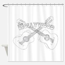 Hollywood Guitars Shower Curtain