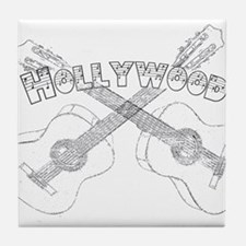 Hollywood Guitars Tile Coaster