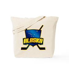Alaska Hockey Flag Logo Tote Bag