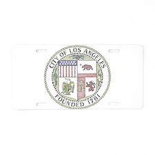 Vintage City of LA Aluminum License Plate