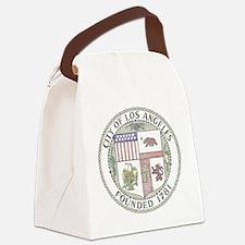 Vintage City of LA Canvas Lunch Bag