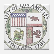 Vintage City of LA Tile Coaster