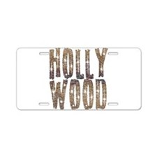 Hollywood Stars and Coffee Aluminum License Plate