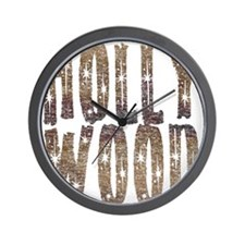 Hollywood Stars and Coffee Wall Clock