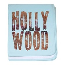 Hollywood Stars and Coffee baby blanket