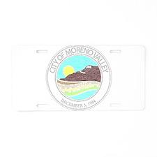 Vintage Moreno Valley Aluminum License Plate