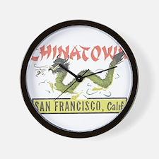 Vintage Chinatown Wall Clock