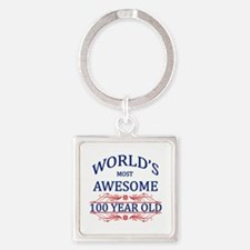 World's Most Awesome 100 Year Old Square Keychain