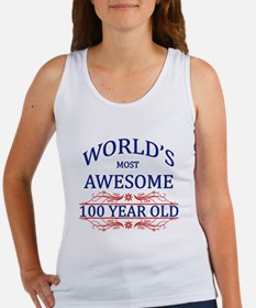 World's Most Awesome 100 Year Old Women's Tank Top