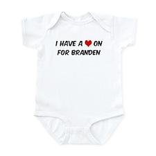 Heart on for Branden Infant Bodysuit