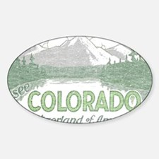 Vintage Colorado Mountains Decal