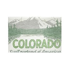 Vintage Colorado Mountains Rectangle Magnet (10 pa