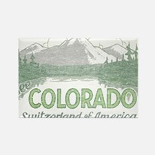 Vintage Colorado Mountains Rectangle Magnet