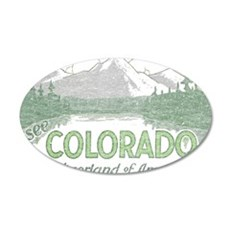 Vintage Colorado Mountains Wall Decal