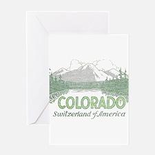 Vintage Colorado Mountains Greeting Card