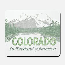 Vintage Colorado Mountains Mousepad