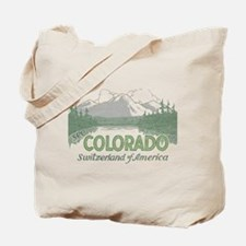 Vintage Colorado Mountains Tote Bag