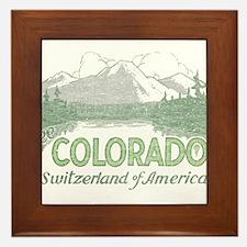 Vintage Colorado Mountains Framed Tile