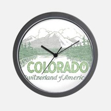 Vintage Colorado Mountains Wall Clock