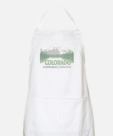 Vintage Colorado Mountains Apron