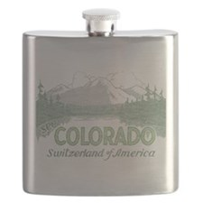 Vintage Colorado Mountains Flask