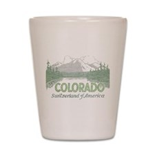 Vintage Colorado Mountains Shot Glass