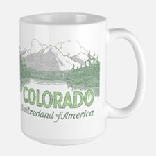 Vintage Colorado Mountains Mug