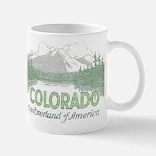 Vintage Colorado Mountains Small Small Mug