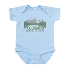 Vintage Colorado Mountains Body Suit