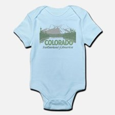Vintage Colorado Mountains Body Suit