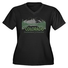 Vintage Colorado Mountains Plus Size T-Shirt