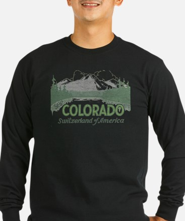 Vintage Colorado Mountains Long Sleeve T-Shirt