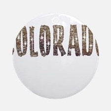 Colorado Stars and Coffee Ornament (Round)