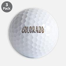 Colorado Stars and Coffee Golf Ball