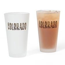 Colorado Stars and Coffee Drinking Glass