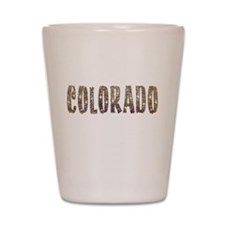 Colorado Stars and Coffee Shot Glass