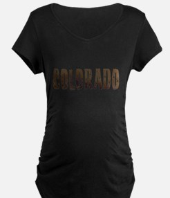 Colorado Stars and Coffee Maternity T-Shirt