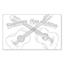 Vintage Denver Guitars Decal
