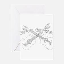 Vintage Denver Guitars Greeting Card