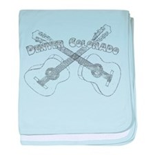 Vintage Denver Guitars baby blanket