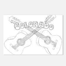 Vintage Colorado Guitars Postcards (Package of 8)