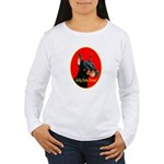 Jolly Dobe Xmas Women's Long Sleeve T-Shirt