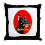 Jolly Dobe Xmas Throw Pillow