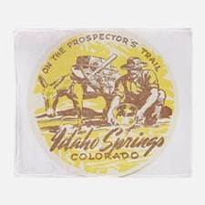 Faded Idaho Springs Colorado Throw Blanket