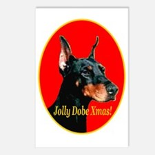Jolly Dobe Xmas Postcards (Package of 8)