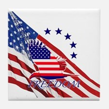 Freedom eagle 4 Tile Coaster