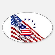 Freedom eagle 4 Sticker (Oval)