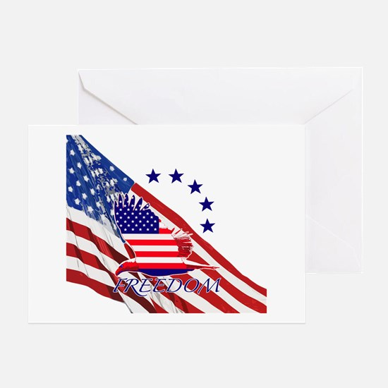 Freedom eagle 4 Greeting Card