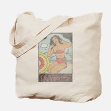 Vintage Connecticut Pinup Tote Bag